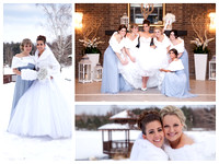 """Bridal Party in Snow"", Bride, Candid, ""winter wedding wonderland"", ""Engagement photos with snowboards skis"", ""Engagement poses"", ""Engagement poses with snow"", ""Flower girl"", ""Groomsmen in snow"", ""Rin"