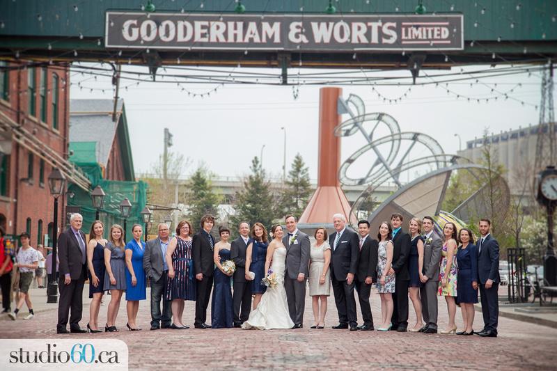 The Loft, Family Wedding Photo in The Distillery District, Toronto, Studio60 Photography