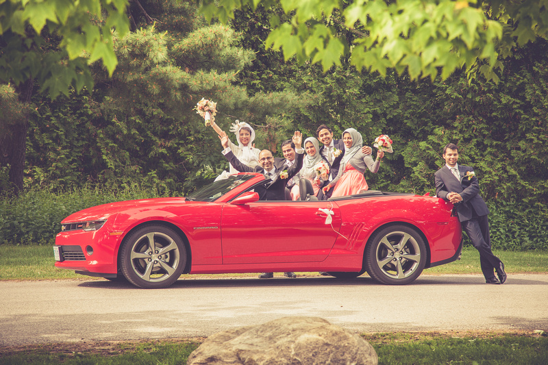 Bride, red convertible, red car, rental car for weddings, roof down, Candid, persian, head scarf, wedding poses, engagement photography, engagement photos, engagement poses,persian wedding photos, husky, toronto wedding photographer, toronto wedding photography, toronto weddings, vintage engagement photos, Wedding Party, Guildwood Wedding Photos, Guildwood Park Wedding Photos, Guildwood Park Wedding Poses, Guildwood Park in Scarborough, Scarborough Weddings