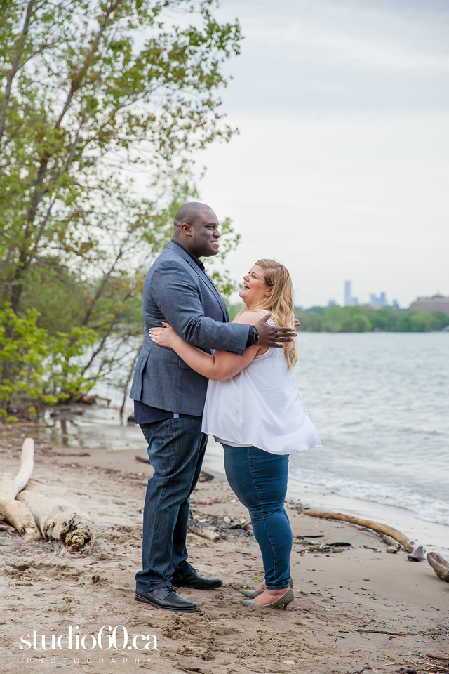 Toronto Engagement Photography Humber Bay Arch Bridge. Plus size couple Photography