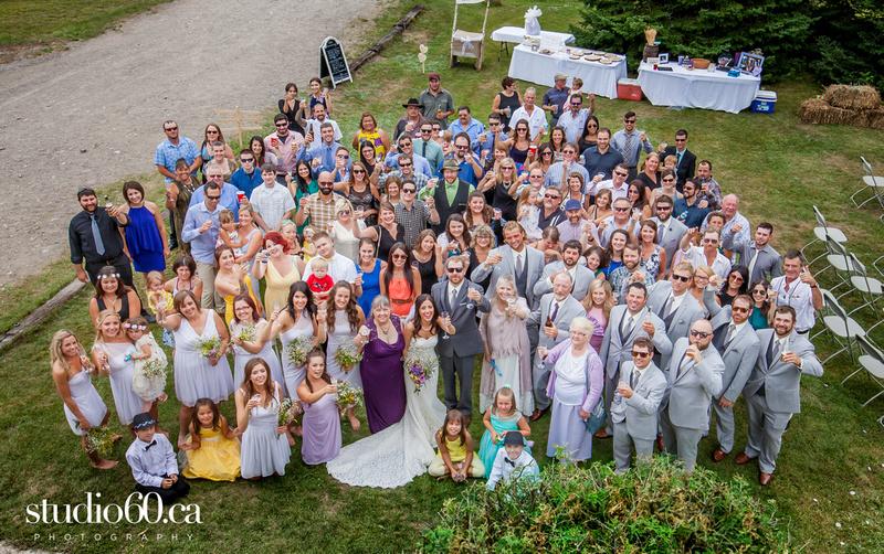 Backyard Wedding in Sudbury, Muskoka Wedding Photography, outdoor wedding ceremony, barn wedding reception