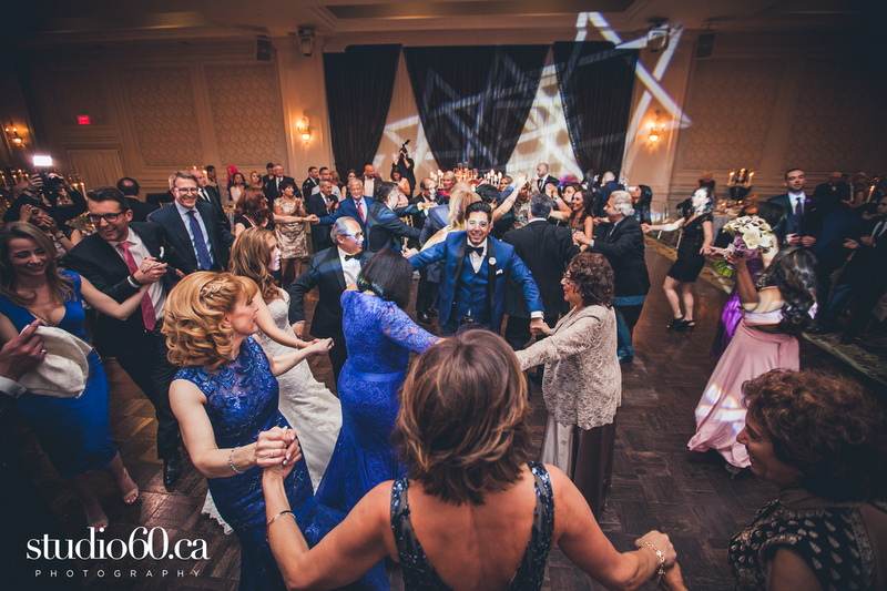 Toronto Wedding Photography | The Hazelton Manor, Vaughan, Jewish ceremony with Rabbi, Chuppah Ceremony, Bridal party in a spring wedding, Hora dancing, The band played music for the first dance